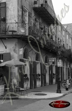 Black and white image of New Orleans LA