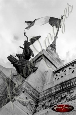 Black and White image of Rome Italy