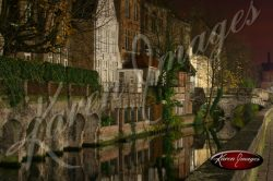 Brugge Canal View Landscape Belgium