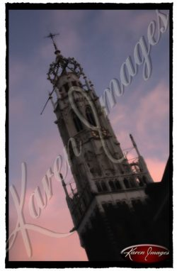 color image of brussels belfry belgium