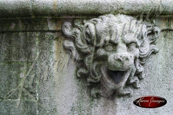 stone fountain in brugge belgium