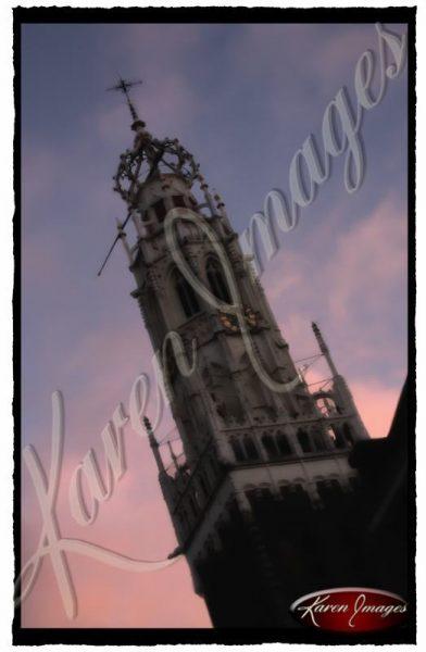 color image of brussels belfry belgium