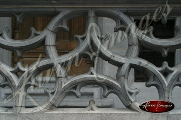 Color image of railing at grand place brussels belgium