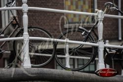 Bikes and Railing Delft Netherlands