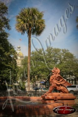 Lion Fountain Savannah Georgia