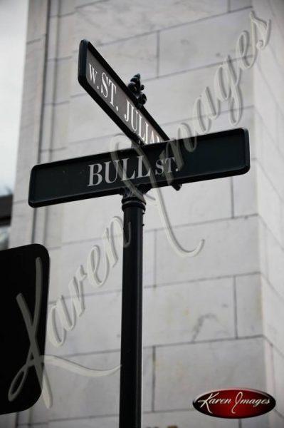 Bull Street Sign Savannah Georgia