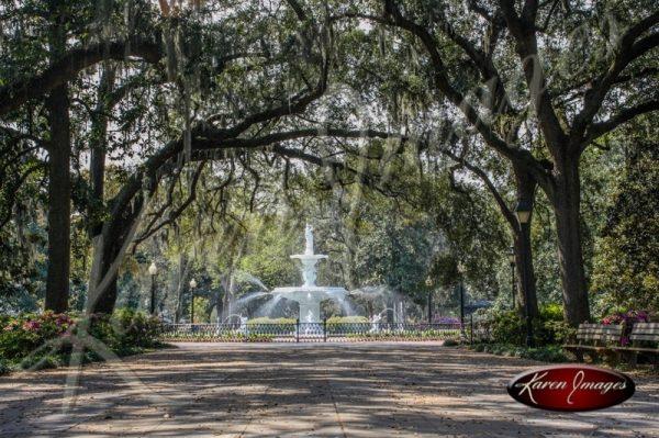 Fountain Forsyth Park Savannah Georgia