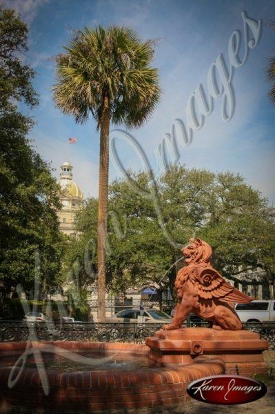 Lion Fountain Savannah Georgia
