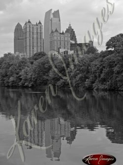 Lake-Clara-Meer-Piedmont-Park-Atlanta-Georgia-Black-and-White