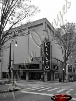 Rialto Theatre Fairlie Poplar Atlanta Georgia Black and White