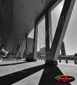 Atlanta Coulmns Phillips Arena Atlanta Georgia Black and White