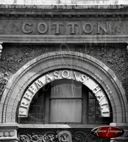 Cotton Exchange Savannah Georgia Black and White