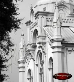 Lutheran Church of the Ascension Savannah Georgia Black and White