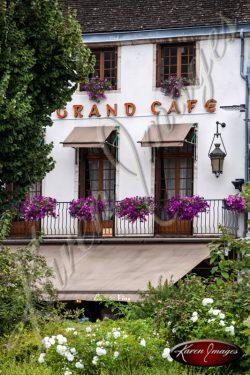 Lovely Cafe in Beaune Burgundy France
