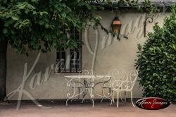 Lovely Scene of Table and Chairs in Beaune France