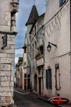 rue de lorraine beaune france ancient street in burgundy bourgogne france