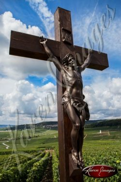 vineyard crucifix ay france