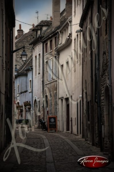Ancient alleyway in Beaune Bourgogne burgundy