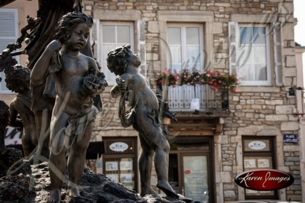 Fountain jn Meursault Square Burgundy France