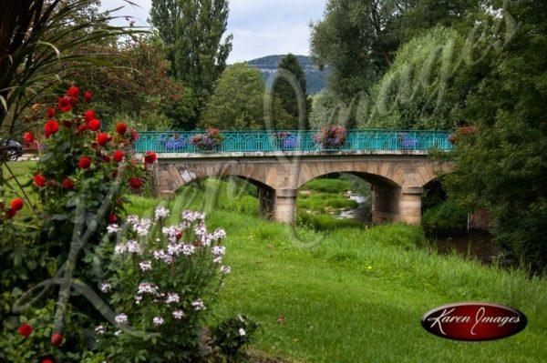 french bridge with flowers