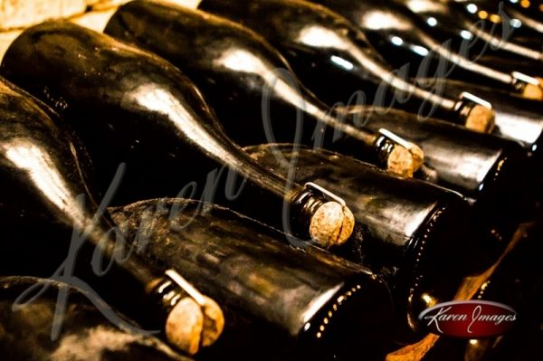 traditional ageing of champagne on lees moet et chandon epernay france