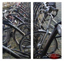 image of bikes in bicle rack maastricht holland
