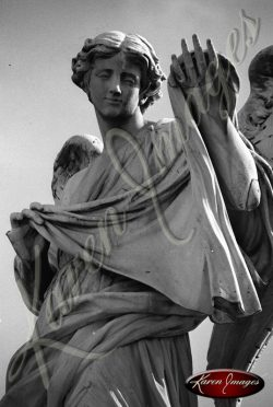 Images of Statues from the Bridge St Angelo Rome Italy