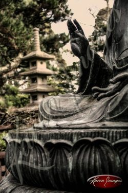 Japanese Tea Garden San Francisco color image of Buddha