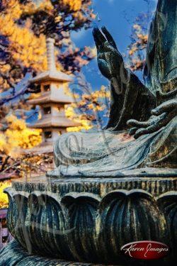 Japanese Tea Garden San Francisco color image of Buddha