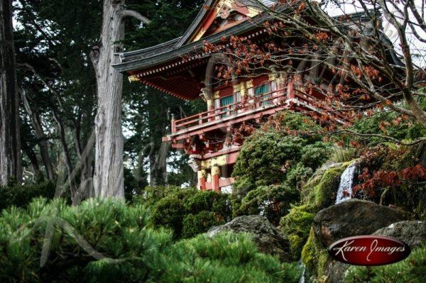 Japanese Tea Garden San Francisco color image of Pagoda