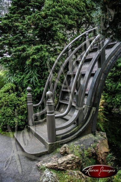 Japanese Tea Garden San Francisco color image of arched bridge