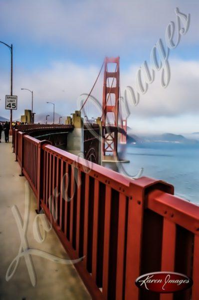 Golden Gate Bridge color photo San Francisco California