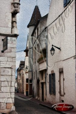 image of alley in beaune france
