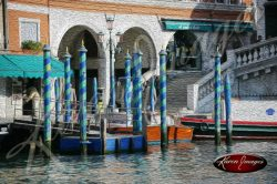 cleared art of venice san marco square italy barber poles