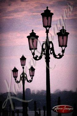 street light of venice