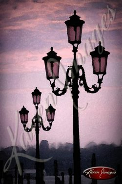 street light of venice