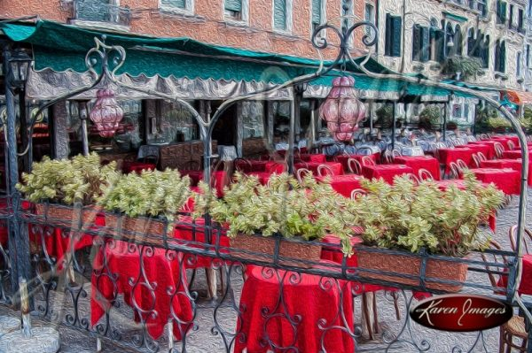 cleared art of venice san marco square italy cafe italiano