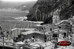 black and white image of cinque terre italyblack and white image of cinque terre italy